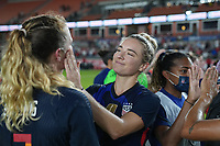 HOUSTON, TX - JUNE 13: Kristie Mewis #22 of the United States after a game between Jamaica and USWNT at BBVA Stadium on June 13, 2021 in Houston, Texas.