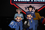 Tyler Tryan, Gave Williams, during the Team Roping Back Number Presentation at the Junior World Finals. Photo by Andy Watson. Written permission must be obtained to use this photo in any manner.
