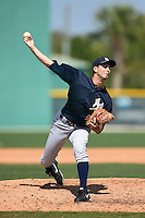 Pitcher Dillon McNamara (43) of the New York Yankees organization during a minor league spring training game against the Pittsburgh Pirates on March 22, 2014 at Pirate City in Bradenton, Florida.  (Mike Janes/Four Seam Images)
