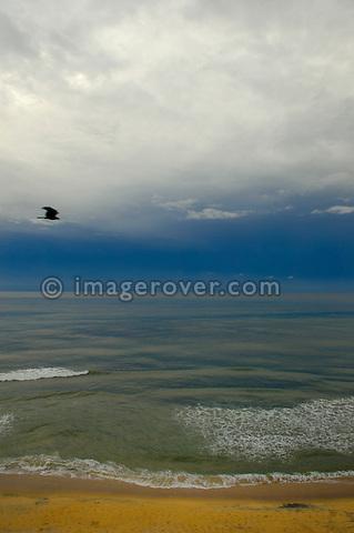 India, Kerala, Varkala Beach. Varkala Beach.