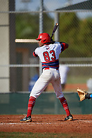Noah Smith (83) during the WWBA World Championship at Terry Park on October 10, 2020 in Fort Myers, Florida.  Noah Smith, a resident of Chicago, Illinois who attends Marist High School, is committed to Louisville.  (Mike Janes/Four Seam Images)