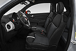 Front seat view of 2019 Fiat 500e Battery-Electric 3 Door Hatchback Front Seat  car photos