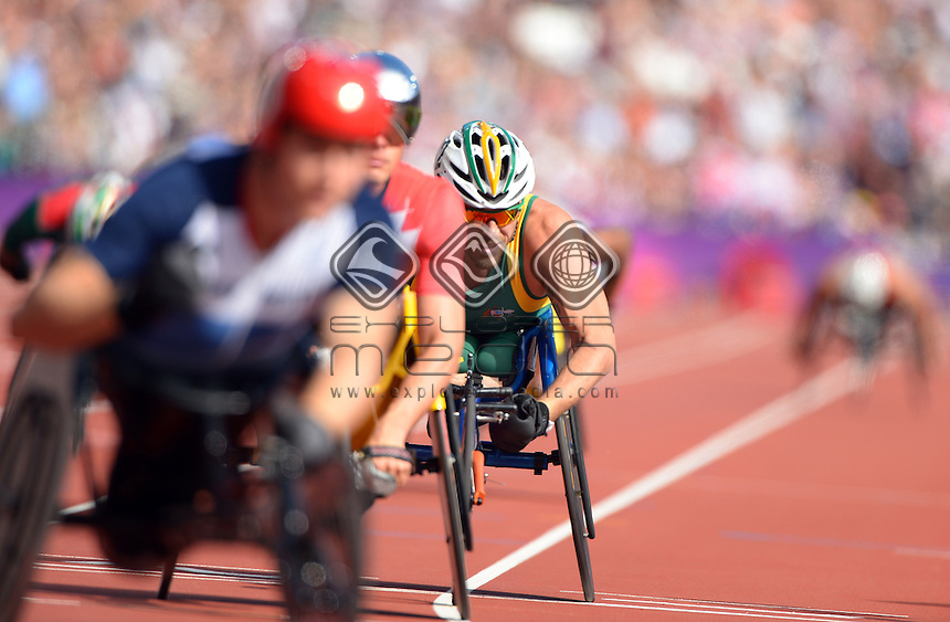 Kurt Fearnley (AUS)<br /> Athletics: Men's 800m T- 54<br /> Olympic Stadium (Wednesday 5  Sept)<br /> Paralympics - Summer / London 2012<br /> London England 29 Aug - 9 Sept <br /> © Sport the library / Jeff Crow