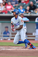 Chattanooga Lookouts center fielder Byron Buxton (7) swings at a pitch during a game against the Tennessee Smokies on April 25, 2015 in Kodak, Tennessee. The Smokies defeated the Lookouts 16-10. (Tony Farlow/Four Seam Images)
