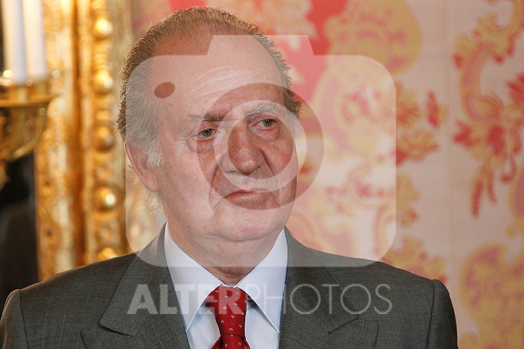 King Juan Carlos, Queen Sofia, Prince Felipe and Princess Letizia give official lunch to Irish President Mary MacAleese and husband at Madrid Royal Palace on March 21st 2011...Photo. Pool / Cesar Cebolla / ALFAQUI