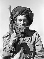 Soviet-supported Afghan fighter near Mazar-e-Sharif on Wednesday, November 8, 1989.