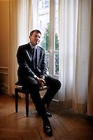 Copyright : Magali Corouge/Documentography pour Le Monde...le 21 / 01 / 2010 a? Paris..Portrait de Vincent Peillon. ..