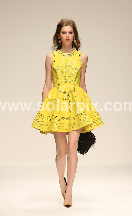 **ALL ROUND PICTURES FROM SOLARPIX.COM**                                             **WORLDWIDE SYNDICATION RIGHTS**                                                                                  Caption: The Holly Fulton catwalk runway show as part of London Fashion Week 2010. London, UK. 20 September 2010                                                                              This pic: Holly Fulton catwalk show                                                                                             JOB REF: 12140 MLW       DATE: 20_09_2010                                                           **MUST CREDIT SOLARPIX.COM OR DOUBLE FEE WILL BE CHARGED**                                                                      **MUST AGREE FEE BEFORE ONLINE USAGE**                               **CALL US ON: +34 952 811 768 or LOW RATE FROM UK 0844 617 7637**