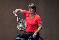 Alphen aan den Rijn, Netherlands, December 13, 2018, Tennispark Nieuwe Sloot, Ned. Loterij NK Tennis, Wheelchair, Marlise Peters (NED)<br /> Photo: Tennisimages/Henk Koster