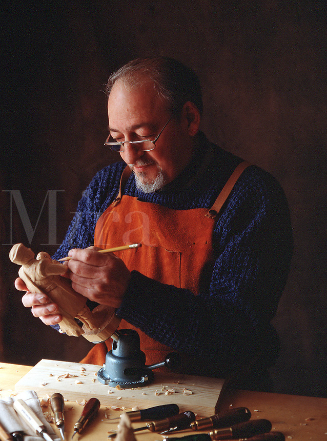 Portrait of a woodworker.