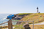 Yaquina Head Lighthouse.  Near Newport Oregon the light protects the entrance to Yaquina Bay.