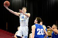 27-02-2021: Basketbal: Donar Groningen v Den Helder Suns: Groningen Donar speler Willem Brandwijk scoort