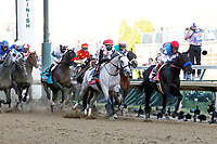 1st May 2021; Kentucky, USA;  Jockey  John Velazquez rides Median Spirit (8) to victory at the 147th running of the Kentucky Derby on May 01, 2021 at Churchill Downs in Louisville