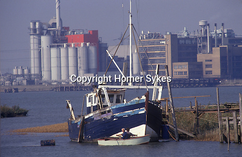 Swanscombe Peninsula North Kent Borough of Dartford UK. 1990s.