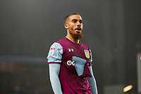 Lewis Grabban of Aston Villa with a ripped shirt during the Sky Bet Championship match between Aston Villa and Cardiff City at Villa Park, Birmingham, England on 10 April 2018. Photo by Mark  Hawkins / PRiME Media Images.