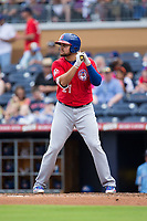 Rowdy Tellez (21) of the Buffalo Bisons at bat against the Durham Bulls at Durham Bulls Athletic Park on April 30, 2017 in Durham, North Carolina.  The Bisons defeated the Bulls 6-1.  (Brian Westerholt/Four Seam Images)