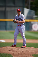 Reading Fightin Phils starting pitcher Shane Watson (40) gets ready to deliver a pitch during a game against the Erie SeaWolves on May 18, 2017 at UPMC Park in Erie, Pennsylvania.  Reading defeated Erie 8-3.  (Mike Janes/Four Seam Images)