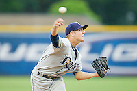 Princeton Rays relief pitcher Clayton Crum (31) in action against the Burlington Royals at Burlington Athletic Park on July 5, 2013 in Burlington, North Carolina.  The Royals defeated the Rays 5-4 in game two of a doubleheader.  (Brian Westerholt/Four Seam Images)