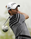 SUZHOU, CHINA - APRIL 18:  Pablo Larrazabal of Spain tees off on the 7th hole during the Round Four of the Volvo China Open on April 18, 2010 in Suzhou, China. Photo by Victor Fraile / The Power of Sport Images