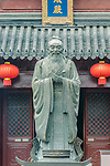 China, Jiansu, Nanjing, Confucious Temple (Fuzimiao). This is the largest statue of Confucious in China