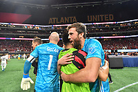 ATLANTA, Georgia - August 27: Brad Guzan #1 andAlec Kann #25 celebrate during the 2019 U.S. Open Cup Final between Atlanta United and Minnesota United at Mercedes-Benz Stadium on August 27, 2019 in Atlanta, Georgia.