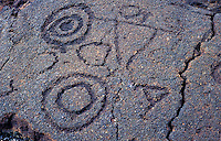Petroglyphs in the Kaupulehu district