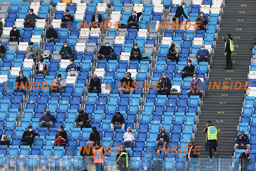 supporters on the stands with distance cause COVID-19<br /> during the Serie A football match between SSC Napoli and Atalanta BC at stadio San Paolo in Napoli (Italy), October 17th, 2020. <br /> Photo Cesare Purini / Insidefoto