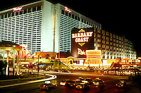 Las Vegas, Nevada, casinos, hotel, NV, Nightlife along The Strip at night in Las Vegas, the Entertainment Capital of the World. The Flamingo Casino.