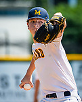 WATERBURY, CT 073121JS19 Midland's Chase Herrell (28) delivers a pitch during their Mickey Mantle World Series baseball game against South Troy Saturday at Municipal Stadium in Waterbury. <br /> Jim Shannon Republican American