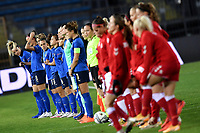 Teams line up during the Women s EURO 2022 qualifying football match between Italy and Denmark at stadio Carlo Castellani in Empoli (Italy), October, 27th, 2020. Photo Andrea Staccioli / Insidefoto