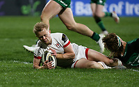 Friday 23rd April 2021; David Shanahan scores for Ulster during the first round of the Guinness PRO14 Rainbow Cup between Ulster Rugby and Connacht Rugby at Kingspan Stadium, Ravenhill Park, Belfast, Northern Ireland. Photo by John Dickson/Dicksondigital