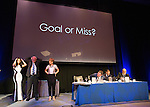 St Johnstone FC Hall of Fame Dinner, Perth Concert Hall….03.04.16<br />The last three play Heads and Tails which eventually was won by Susan Grant (right)<br />Picture by Graeme Hart.<br />Copyright Perthshire Picture Agency<br />Tel: 01738 623350  Mobile: 07990 594431