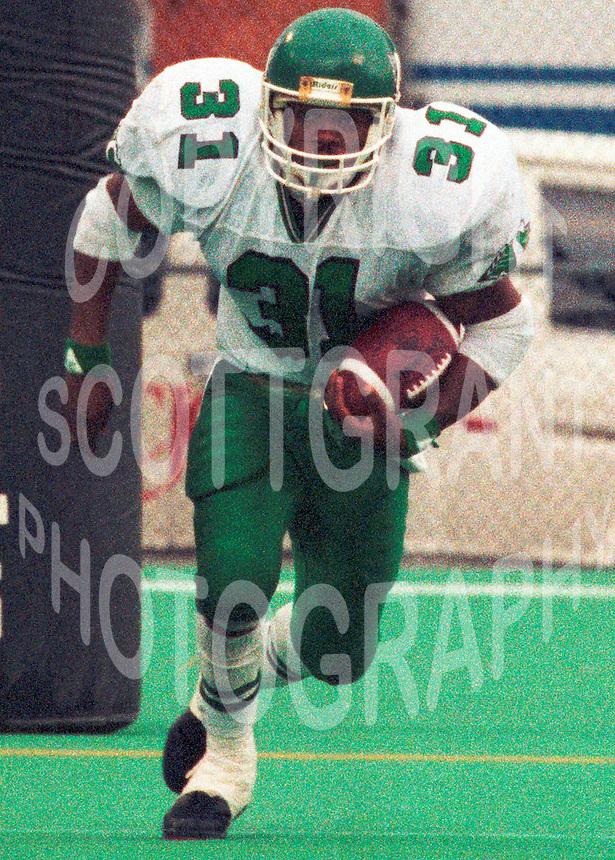 Lucius Floyd Saskatchewan Roughriders 1991. Photo F. Scott Grant
