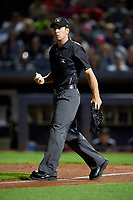 Umpire Tom Hanahan during an Eastern League game between the Erie SeaWolves and Akron RubberDucks on August 30, 2019 at Canal Park in Akron, Ohio.  Erie defeated Akron 3-2.  (Mike Janes/Four Seam Images)