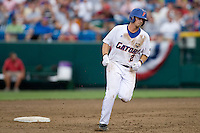 Florida's Josh Adams against UCLA in Game 2 of the NCAA Division One Men's College World Series on Saturday June 19th, 2010 at Johnny Rosenblatt Stadium in Omaha, Nebraska.  (Photo by Andrew Woolley / Four Seam Images)