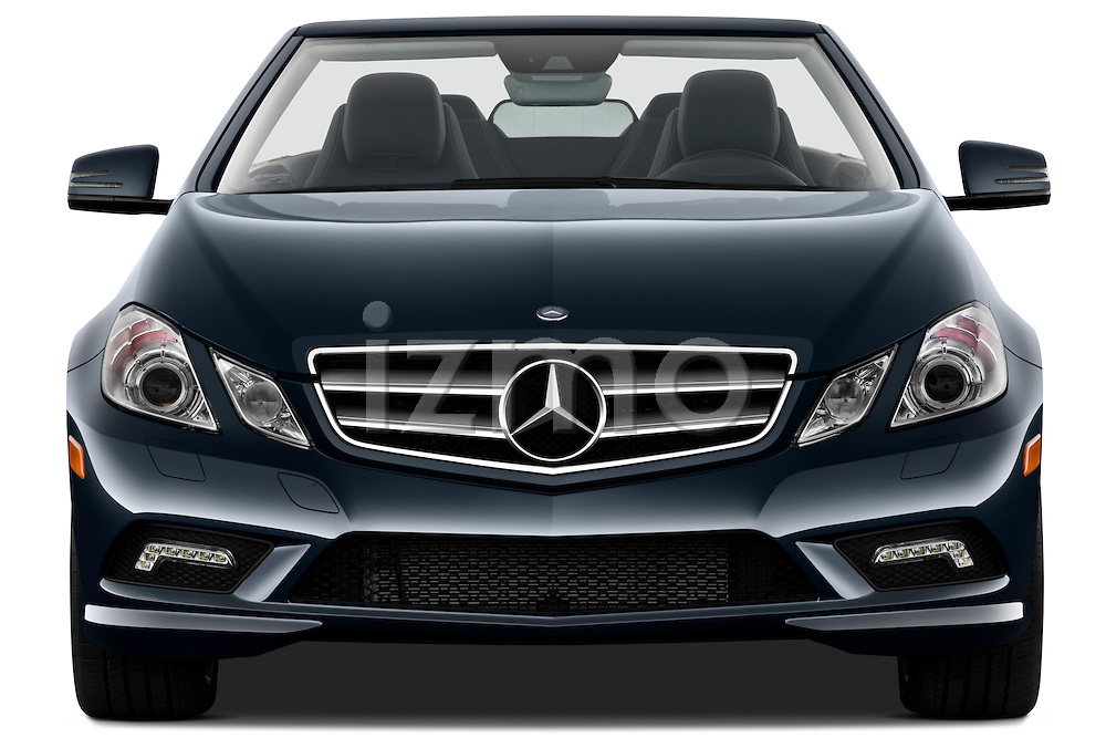 Straight front view of a 2011 Mercedes E 550 Convertible