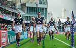 Hong Kong vs American Samoa during the Cathay Pacific / HSBC Hong Kong Sevens at the Hong Kong Stadium on 28 March 2014 in Hong Kong, China. Photo by Andy Jones / Power Sport Images