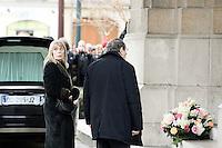Candice Patou - Obseques de Michele Morgan - Service religieux en l'Èglise Saint-Pierre de Neuilly-sur-Seine le 23 decembre 2016