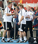 Mission accomplished in Macedonia for Scotland's management team of Mark McGhee, Stuart McCall and Gordon Strachan at the full-time whistle