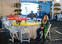 Feb 8, 2017; Pomona, CA, USA; NHRA top fuel driver Brittany Force waits for a photo shoot to begin during media day at Auto Club Raceway at Pomona. Mandatory Credit: Mark J. Rebilas-USA TODAY Sports