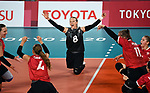Jolan Wong, Tokyo 2020 - Sitting Volleyball // Volleyball Assis.<br /> Canada takes on Brazil in the sitting volleyball bronze medal match // Le Canada affronte le Brésil dans le match pour la médaille de bronze en volleyball assis. 09/4/2021.