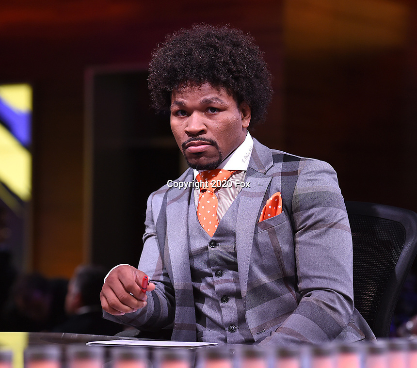 """LOS ANGELES - JANUARY 25: Shawn Porter during the Los Angeles press conference on January 25, 2020 for the """"Wilder vs Fury II"""" FOX SPORTS PPV & ESPN+ PPV which will take place on Feb. 22 from the MGM Grand Garden Arena in Las Vegas. (Photo by Frank Micelotta/Fox Sports/PictureGroup)"""