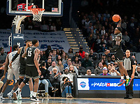 WASHINGTON, DC - FEBRUARY 19: Maliek White #4 of Providence pulls in a pass during a game between Providence and Georgetown at Capital One Arena on February 19, 2020 in Washington, DC.