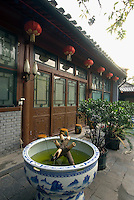 China, Peking (Beijing), Hotel Hao Yuan Guest House in traditionellem Hofhaus im Shijia Hutong 53