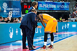 Herbalife Gran Canaria's coach Luis Casimiro and Bo McCalebb during the final of Supercopa of Liga Endesa Madrid. September 24, Spain. 2016. (ALTERPHOTOS/BorjaB.Hojas)