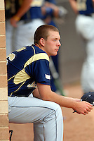 Georgia Tech RHP Kevin Jacob watches from the dugout during a game vs. Boston College at Shea Field on May 22, 2010 in Chestnut Hill, MA (Photo by Ken Babbitt/Four Seam Images)