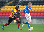 Partick Thistle v St Johnstone....25.10.14   SPFL<br /> Brian Easton is fouled by Abdul Osman<br /> Picture by Graeme Hart.<br /> Copyright Perthshire Picture Agency<br /> Tel: 01738 623350  Mobile: 07990 594431