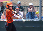 Douglas Tigers' Madi Parks hits against the Galena Grizzlies in a first round game of the NIAA northern region softball tournament in Reno, Nev., on Thursday, May 15, 2014.<br /> Photo by Cathleen Allison