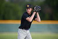 Garrett Morski (17), from Collinsville, Illinois, while playing for the Pirates during the Baseball Factory Pirate City Christmas Camp & Tournament on December 30, 2017 at Pirate City in Bradenton, Florida.  (Mike Janes/Four Seam Images)