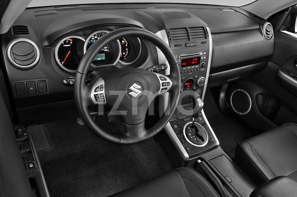 High angle dashboard view of a  2009 Suzuki Grand Vitara